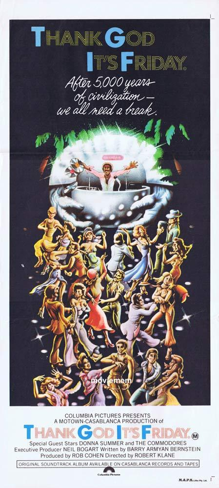 THANK GOD ITS FRIDAY Original Daybill Movie poster Jeff Goldblum