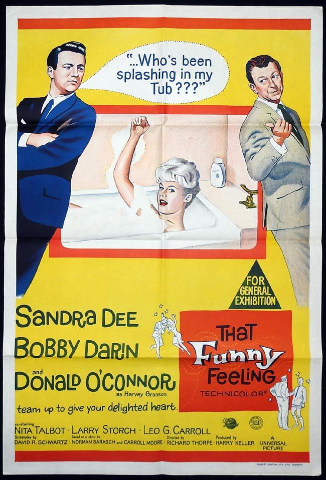 THAT FUNNY FEELING Original One sheet Movie poster Sandra Dee Bobby Darin