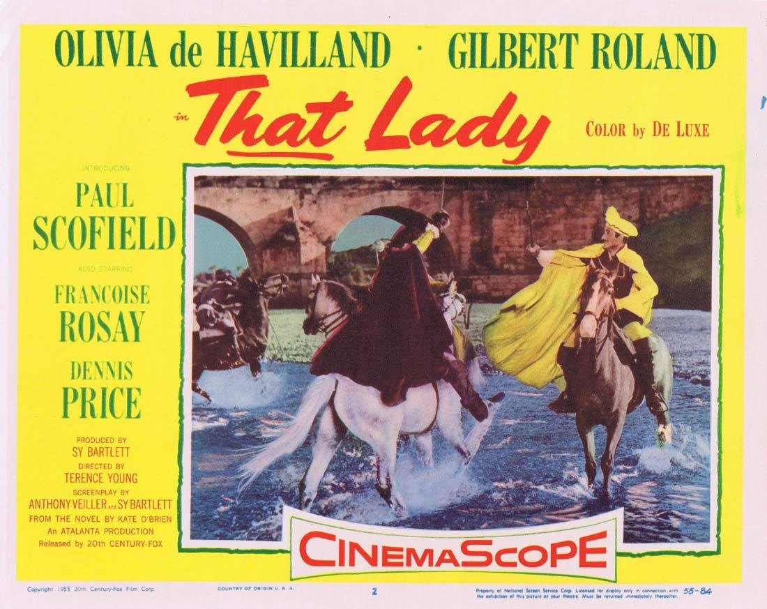 THAT LADY Lobby Card 2 Olivia de Havilland Paul Scofield Gilbert Roland