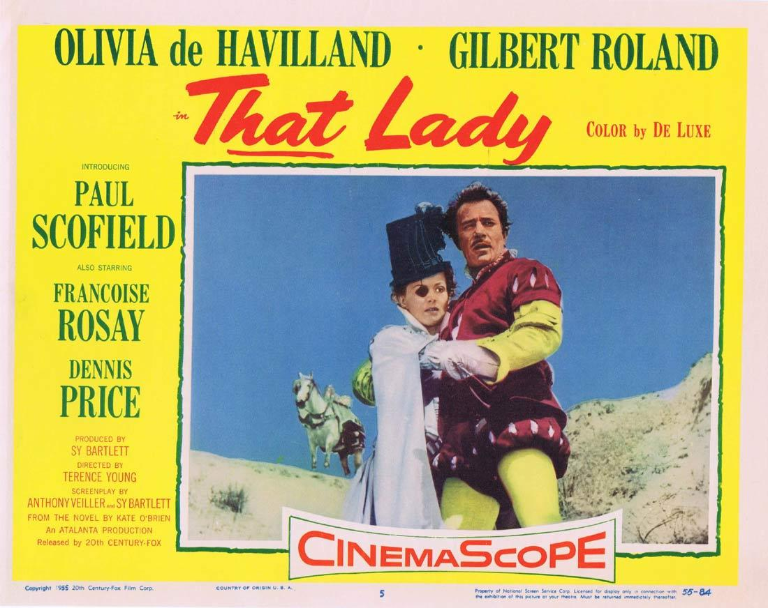 THAT LADY Lobby Card 5 Olivia de Havilland Paul Scofield Gilbert Roland