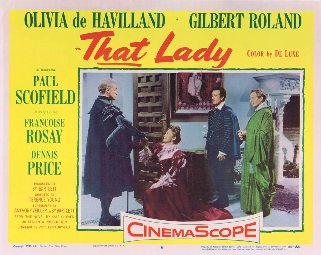 THAT LADY Lobby Card 6 Olivia de Havilland Paul Scofield Gilbert Roland