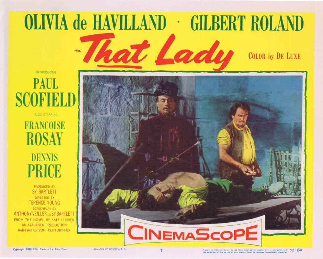 THAT LADY Lobby Card 7 Olivia de Havilland Paul Scofield Gilbert Roland