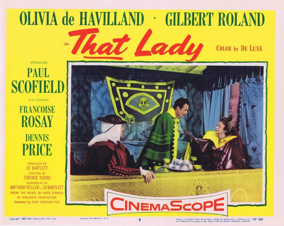THAT LADY Lobby Card 8 Olivia de Havilland Paul Scofield Gilbert Roland