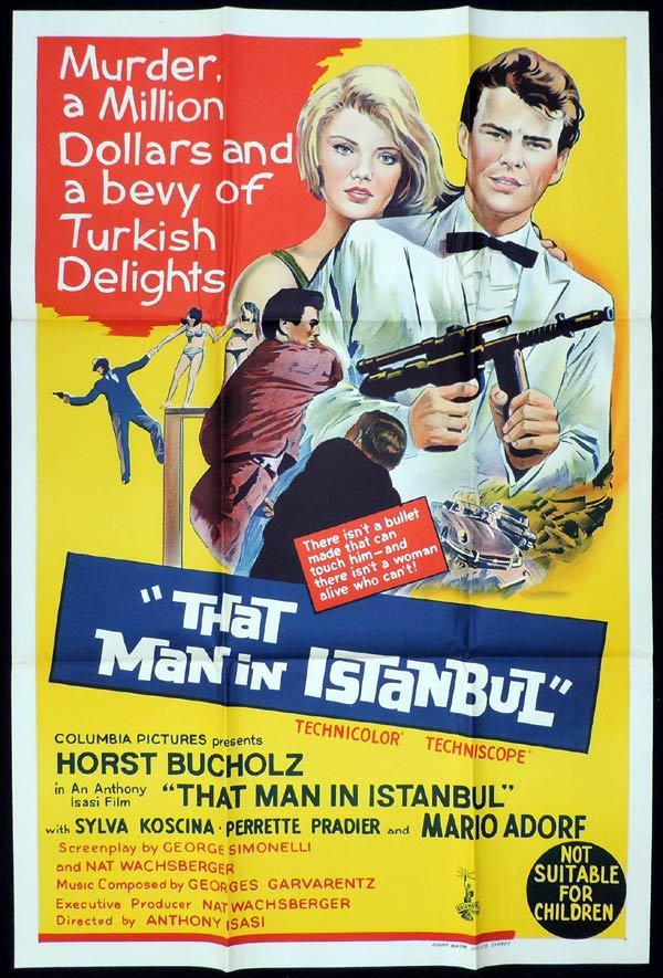 THAT MAN IN ISTANBUL One Sheet Movie Poster Horst Buchholz