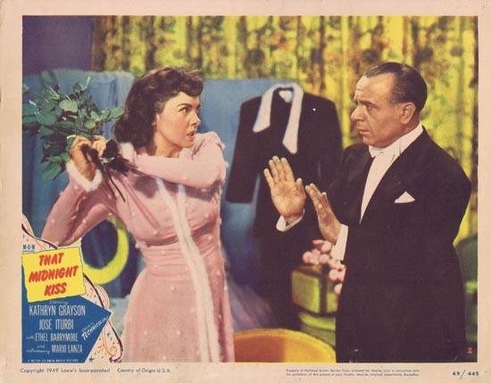 THAT MIDNIGHT KISS 1949 Kathryn Grayson Lobby card 2