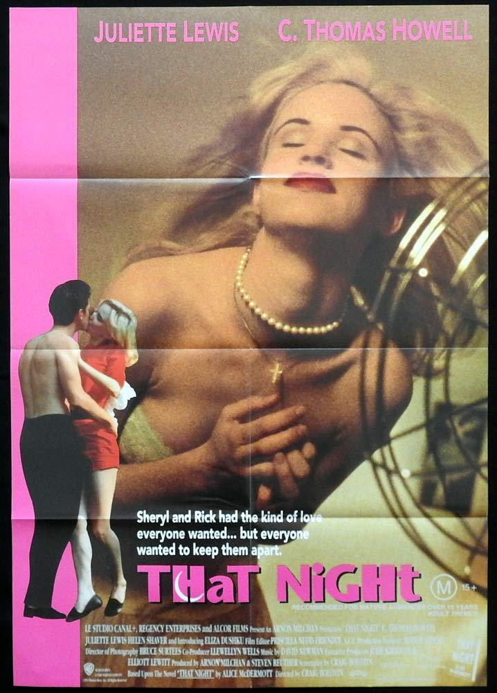 THAT NIGHT Original One sheet Movie poster Juliette Lewis-Howell