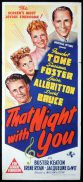 THAT NIGHT WITH YOU Original Daybill Movie Poster Franchot Tone