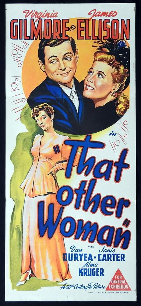 THAT OTHER WOMAN Original Daybill Movie poster Virginia Gilmore James Ellison