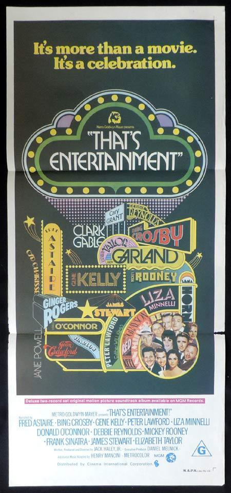 THATS ENTERTAINMENT Original Daybill Movie Poster Fred Astaire Bing Crosby