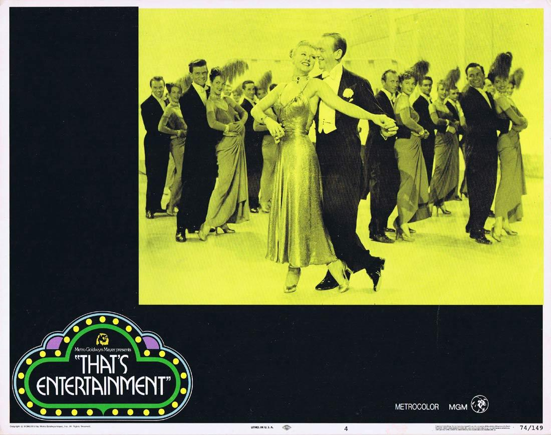 THAT'S ENTERTAINMENT Original Lobby Card 4 Fred Astair Ginger Rogers