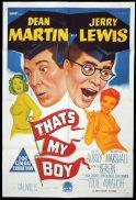 THAT'S MY BOY Original One sheet Movie Poster Dean Martin Jerry Lewis