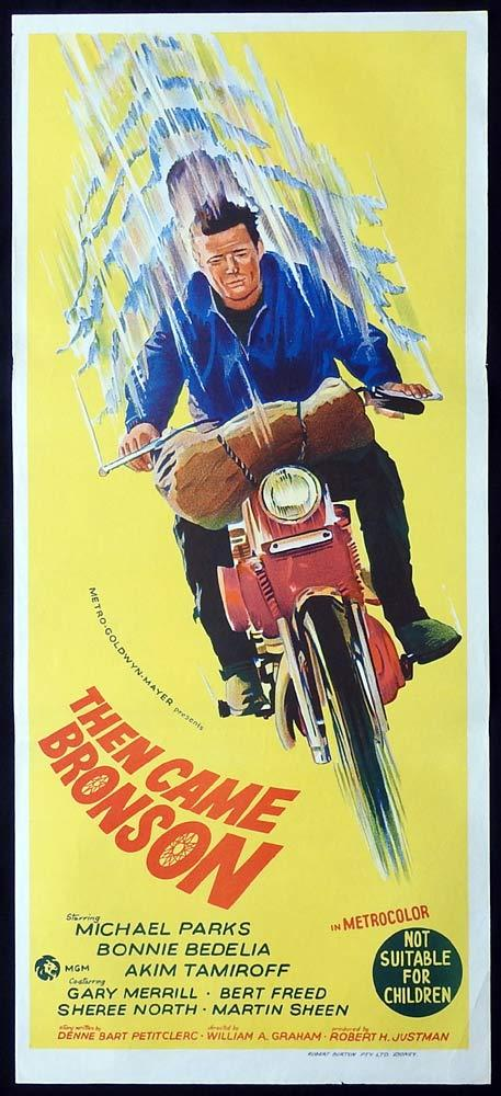 THEN CAME BRONSON Original Daybill Movie Poster Michael Parks Motorcycle art