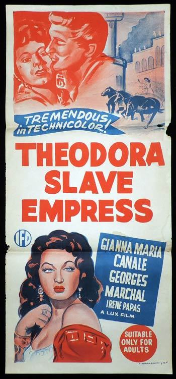 THEODORA SLAVE EMPRESS Daybill Movie poster Gianna Maria