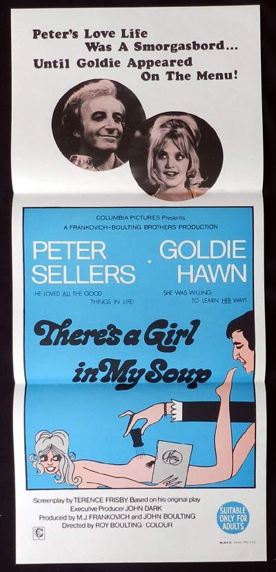 THERE'S A GIRL IN MY SOUP Original Daybill Movie Poster Peter Sellers Goldie Hawn