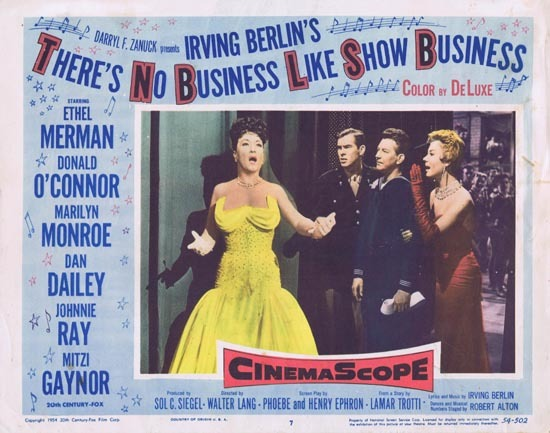 THERE'S NO BUSINESS LIKE SHOW BUSINESS Ethel Merman Lobby Card 7