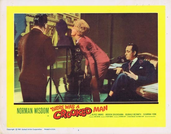 THERE WAS A CROOKED MAN Lobby Card 1 1961 Norman Wisdom