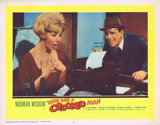 THERE WAS A CROOKED MAN Lobby Card 2 1961 Norman Wisdom