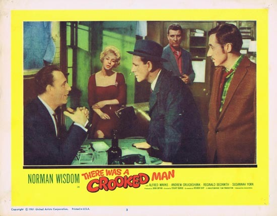 THERE WAS A CROOKED MAN Lobby Card 3 1961 Norman Wisdom