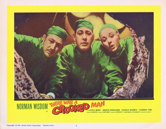 THERE WAS A CROOKED MAN Lobby Card 4 1961 Norman Wisdom