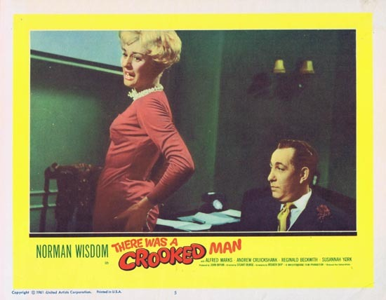 THERE WAS A CROOKED MAN Lobby Card 5 1961 Norman Wisdom