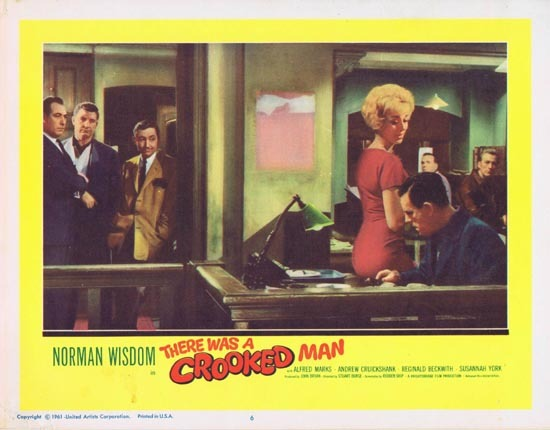 THERE WAS A CROOKED MAN Lobby Card 6 1961 Norman Wisdom