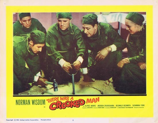 THERE WAS A CROOKED MAN Lobby Card 8 1961 Norman Wisdom