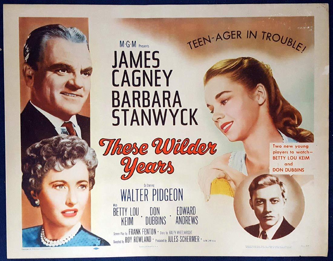 THESE WILDER YEARS US Half sheet Movie poster James Cagney Barbara Stanwyck Walter Pidgeon