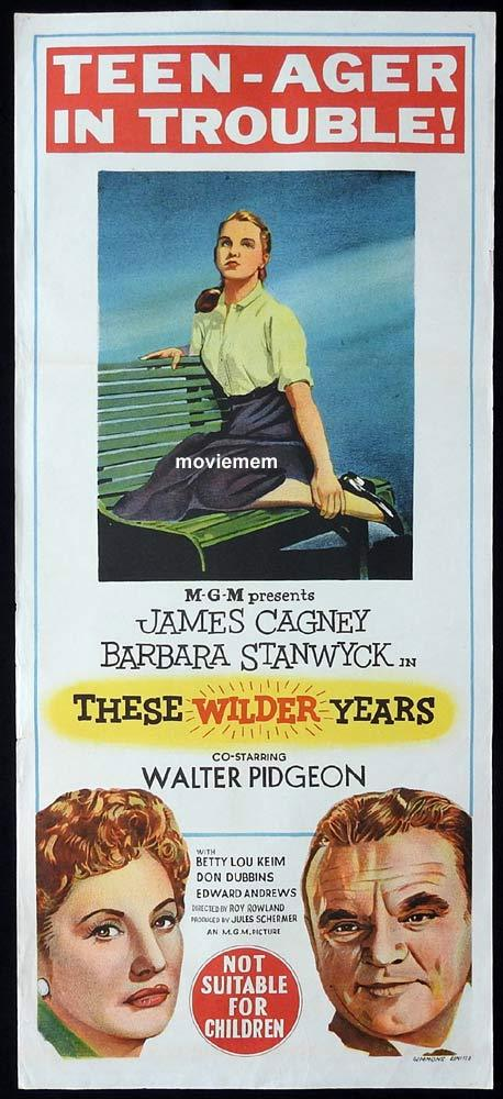 THESE WILDER YEARS Original Daybill Movie Poster James Cagney Barbara Stanwyck