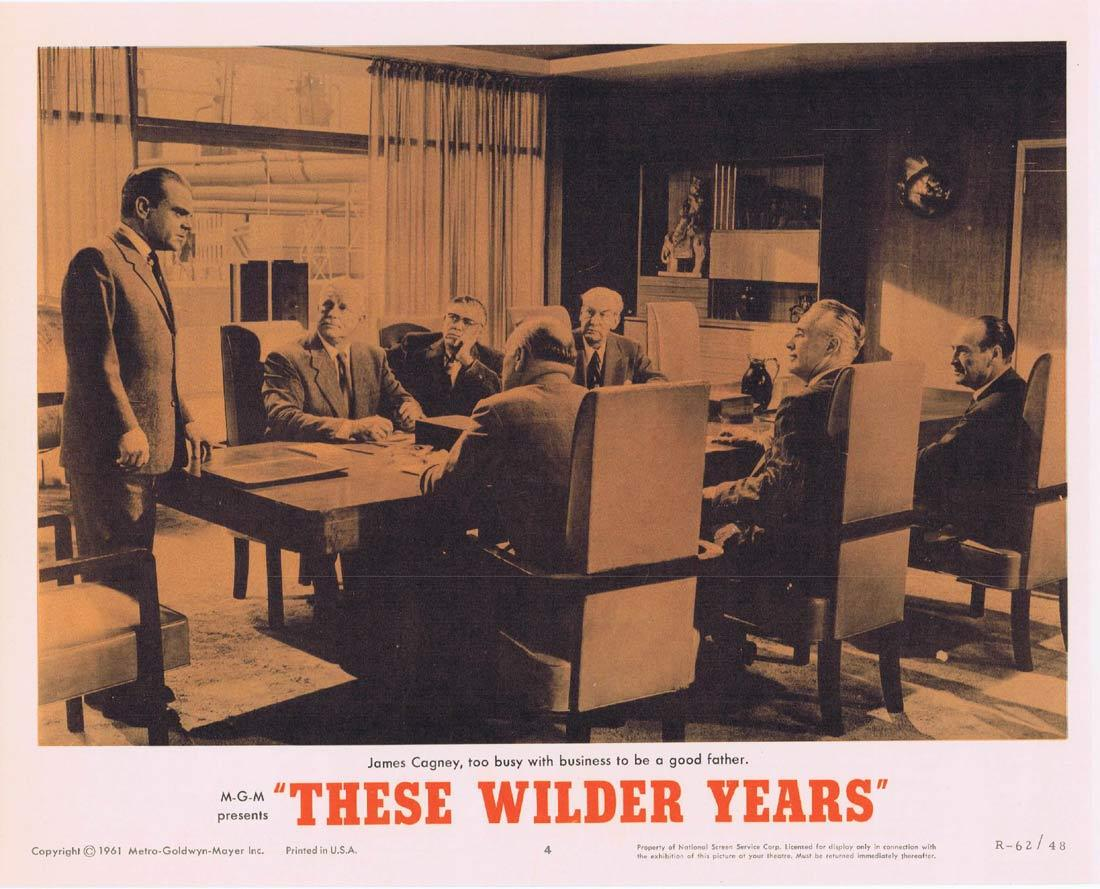 THESE WILDER YEARS Lobby Card 4 James Cagney Barbara Stanwyck Walter Pidgeon 1967r