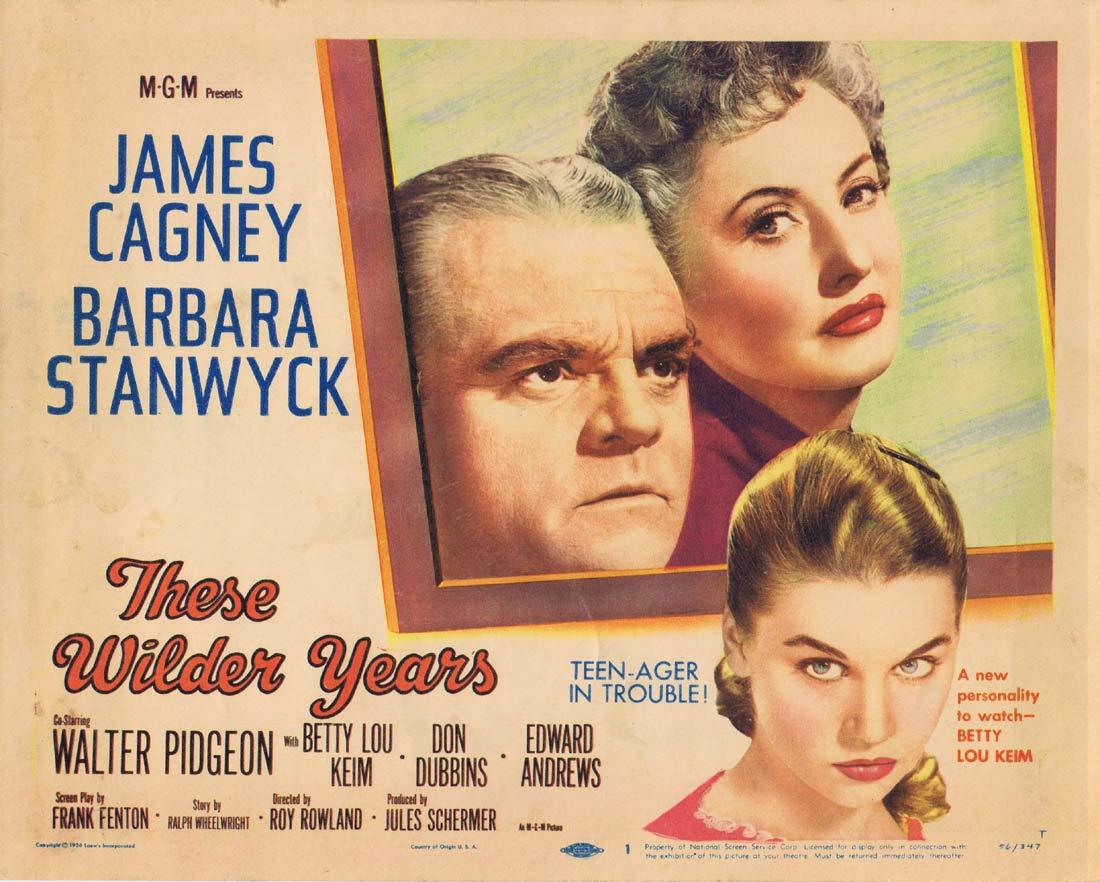 THESE WILDER YEARS Original Title Lobby Card James Cagney Barbara Stanwyck