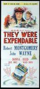 THEY WERE EXPENDABLE Original Daybill Movie Poster Robert Montgomery John Wayne