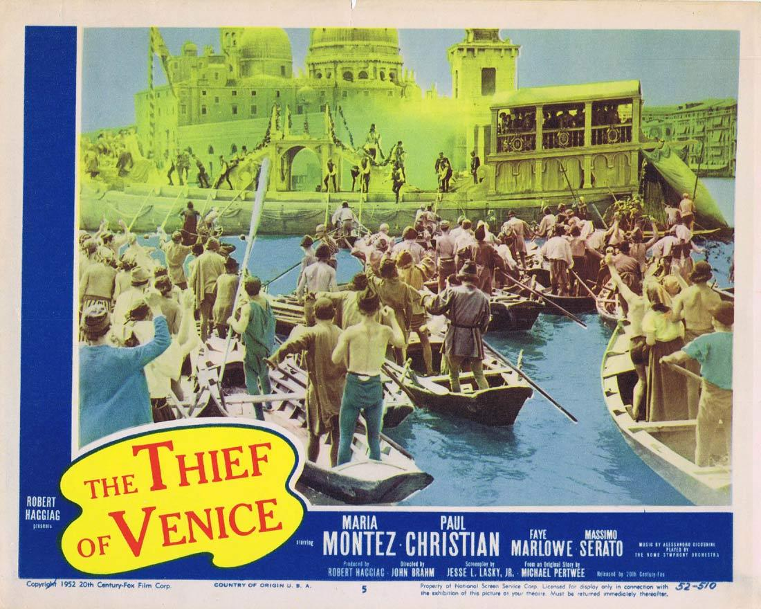 THE THIEF OF VENICE Original Lobby Card 5 Maria Montez Paul Christian Massimo Serato