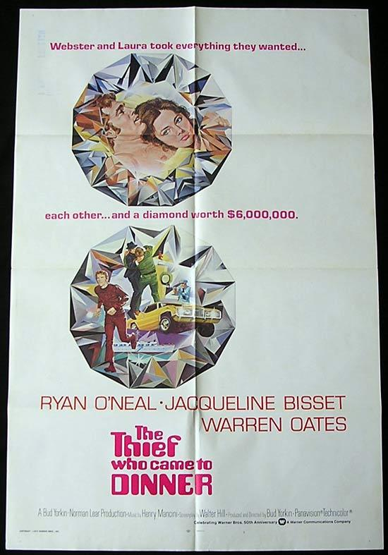 THE THIEF WHO CAME TO DINNER Original One sheet Movie poster Ryan O'Neal Jacqueline Bisset