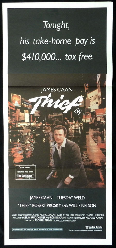 THIEF Original Daybill Movie Poster James Caan Safecracker