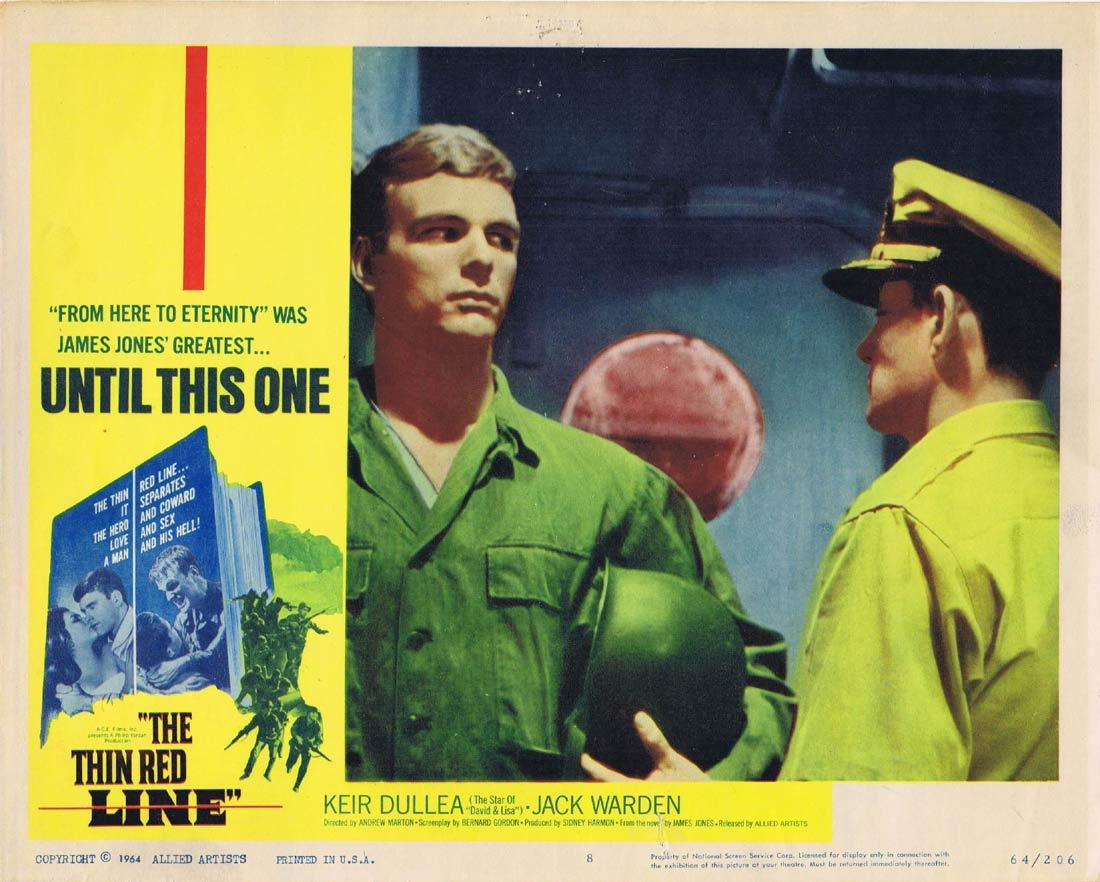 THE THIN RED LINE Original Lobby Card 8 Keir Dullea Jack Warden James Philbrook