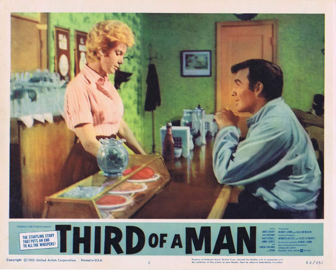 THIRD OF A MAN Lobby Card 6 James Drury Simon Oakland
