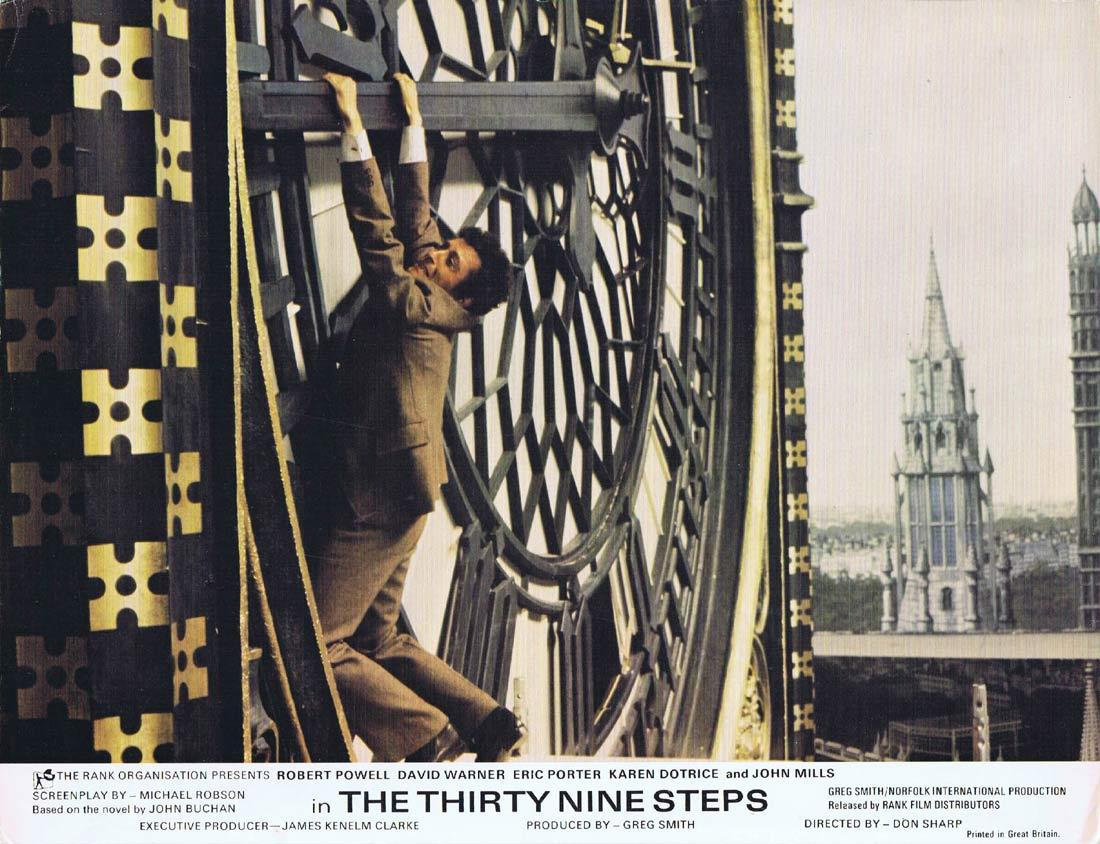 THE THIRTY NINE STEPS Lobby Card Robert Powell David Warner Karen Dotrice