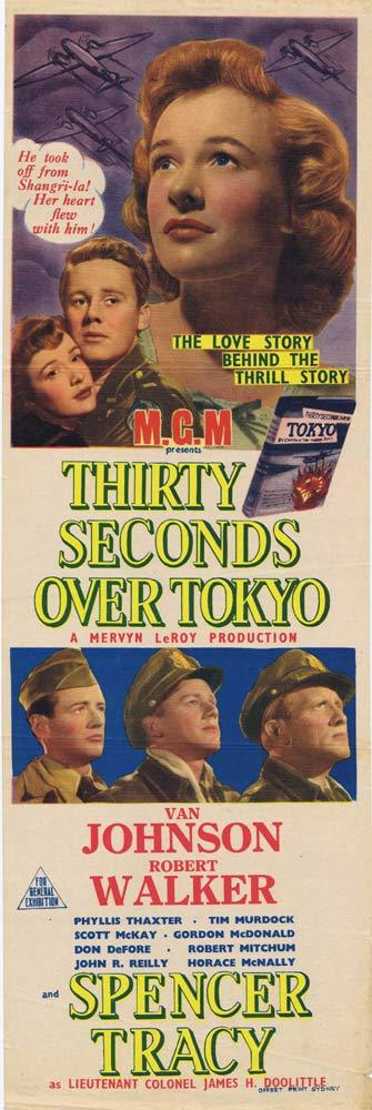 THIRTY SECONDS OVER TOKYO Original Daybill Movie poster Spencer Tracy