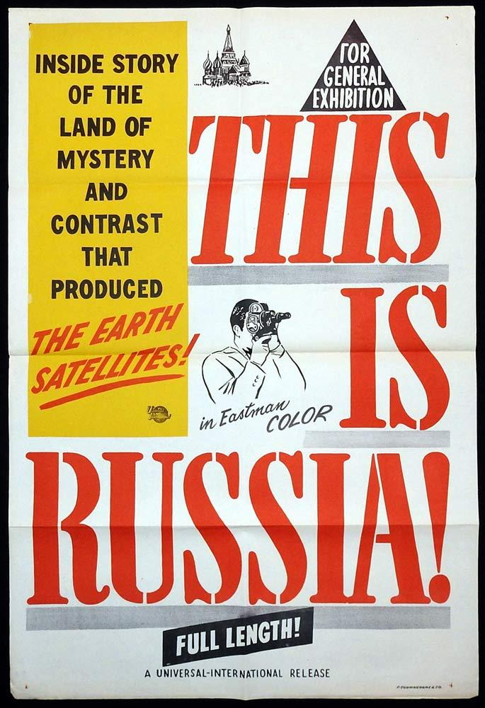 THIS IS RUSSIA Original One sheet Movie poster