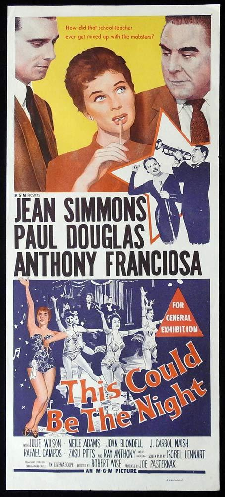 THIS COULD BE THE NIGHT Original Daybill Movie Poster Paul Douglas Jean Simmons