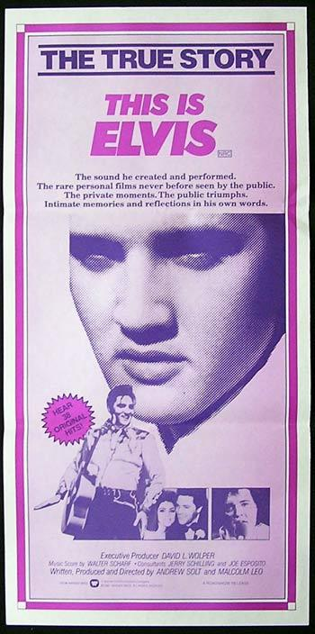 THIS IS ELVIS Original Daybill Movie Poster Elvis Presley