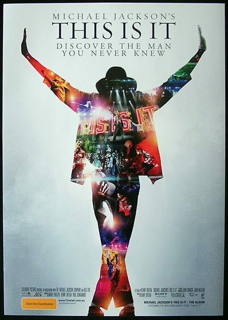 THIS IS IT Michael Jackson RARE Daybill Movie poster