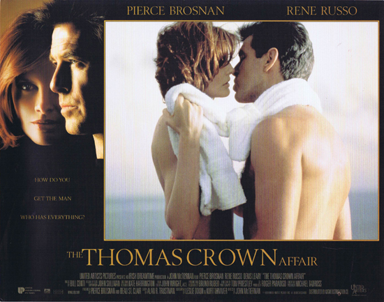 THOMAS CROWN AFFAIR Lobby Card 5 Pierce Brosnan Rene Russo