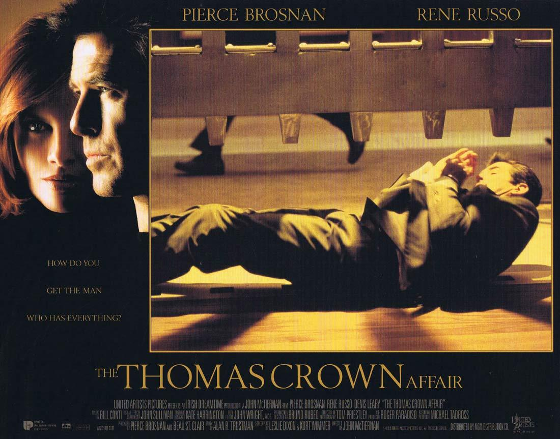 THOMAS CROWN AFFAIR Lobby Card 1 Pierce Brosnan Rene Russo