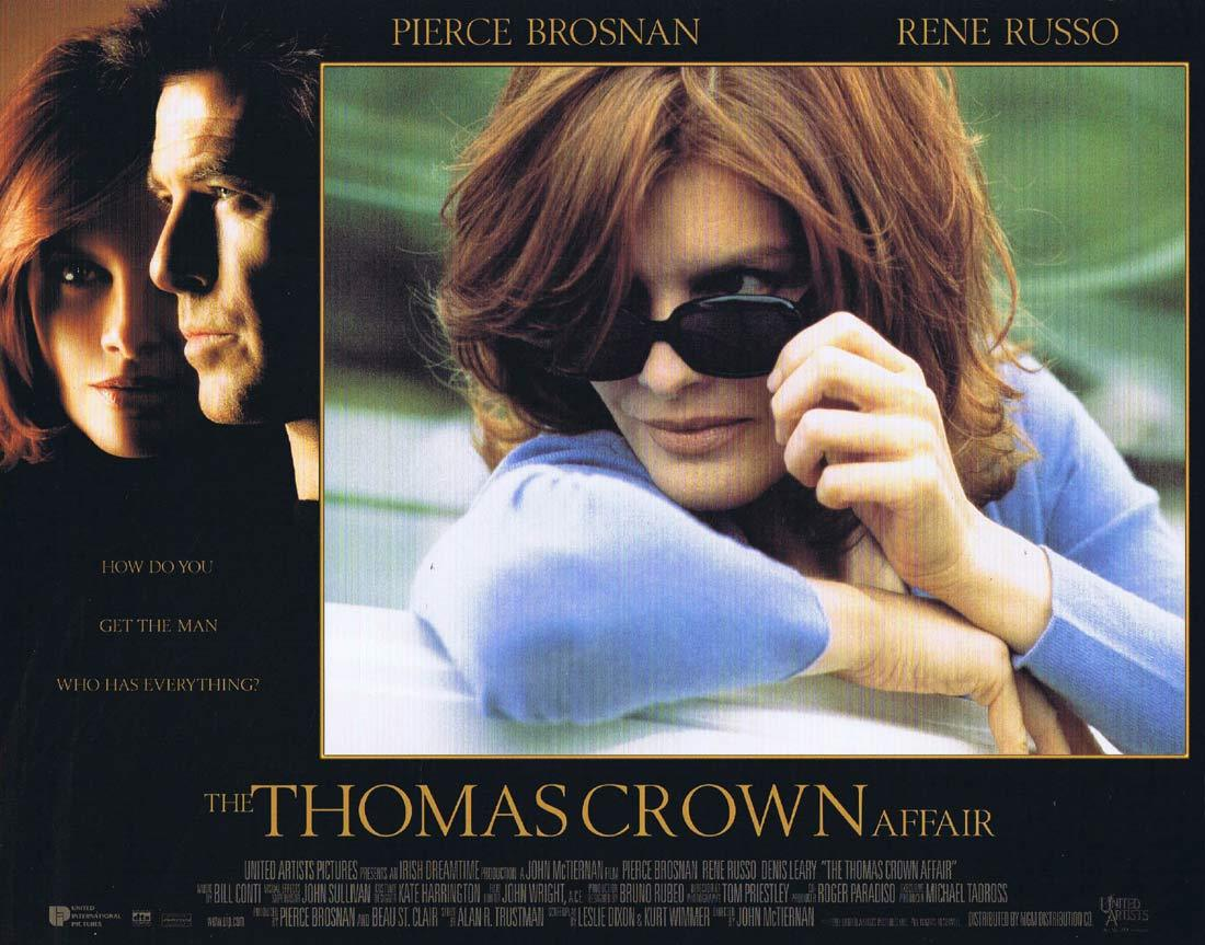 THOMAS CROWN AFFAIR Lobby Card 2 Pierce Brosnan Rene Russo