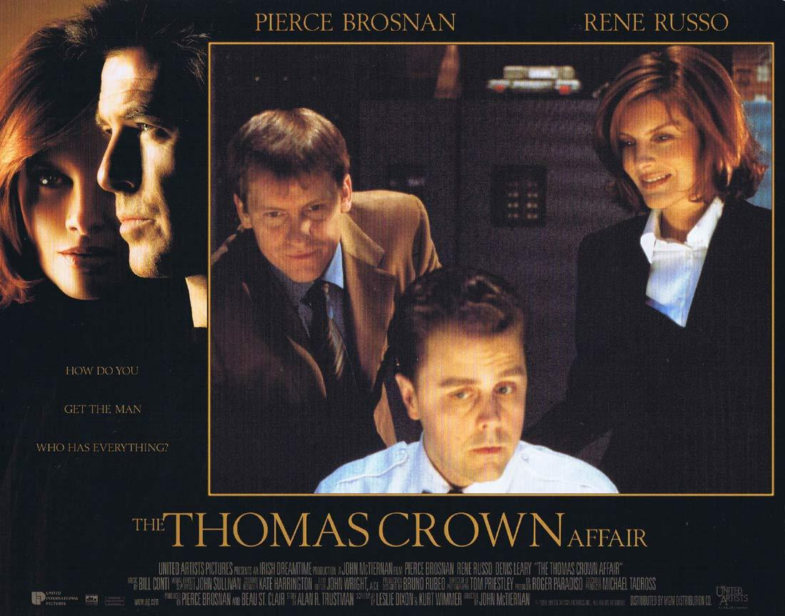 THOMAS CROWN AFFAIR Lobby Card 7 Pierce Brosnan Rene Russo