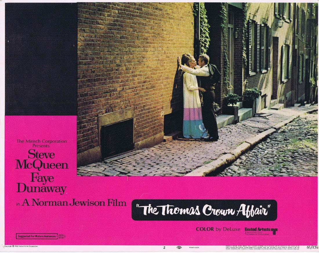 THE THOMAS CROWN AFFAIR Original Lobby Card 2 Steve McQueen Faye Dunaway