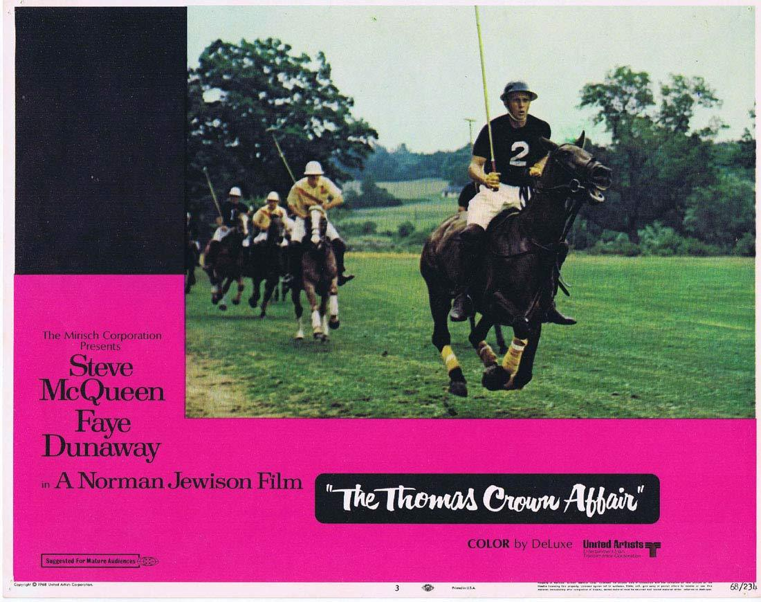 THE THOMAS CROWN AFFAIR Original Lobby Card 3 Steve McQueen Faye Dunaway