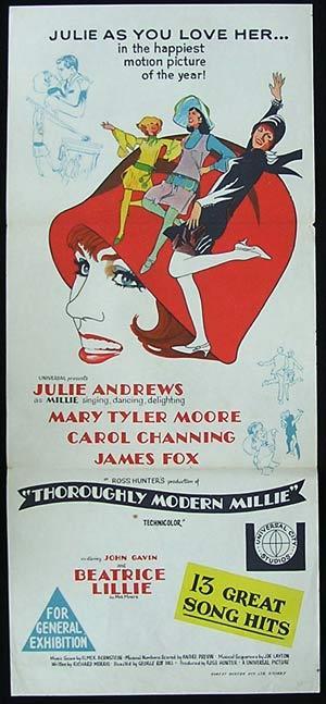 THOROUGHLY MODERN MILLIE Daybill Movie Poster Julie Andrews
