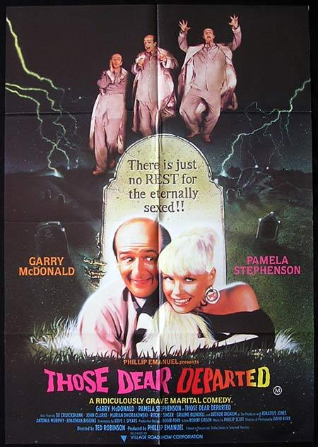 THOSE DEAR DEPARTED 1997 Garry MacDonald RARE One sheet Movie poster